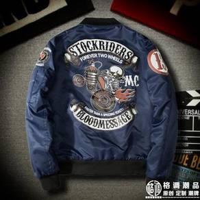 Stockriders bikers black blue green bomber jacket
