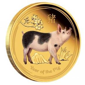 Series II 2019 Year of the Pig 1oz Gold Proof