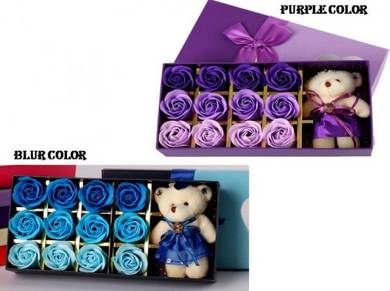 12 pcs Rose Soap Flower with Mini Doll
