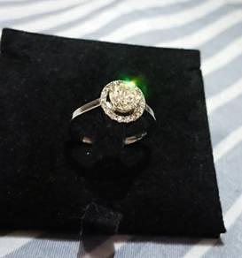 1.18Ct White Gold Solitaire Diamond Ring Cincin
