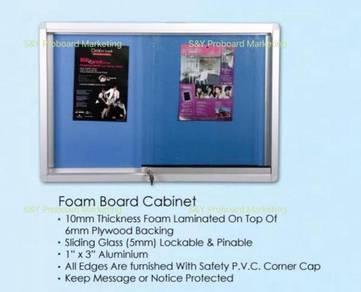 3X4 Sliding Glass Notice Board Cabinet