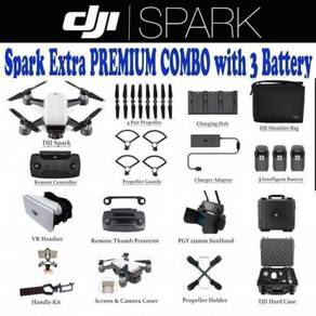 DJI Spark Extra Premium Combo with 3 Battery Pack