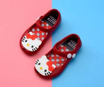 Kids Cartoon Jelly ShoesSandal -HELLO KITTY RED