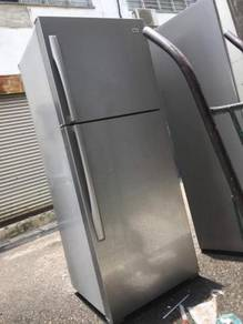 Fridge 2 Pintu Doors LG Silver Refrigerator Peti