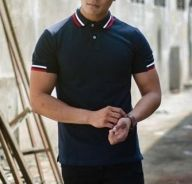 (501A) Smart Polo Dark Blue Short Sleeved T-Shirt