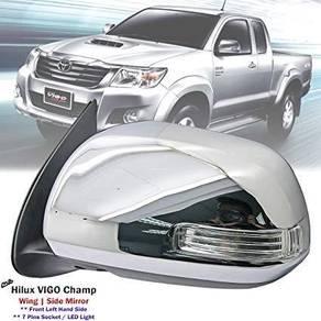 Toyota Vigo Revo Rocco chrome side mirror with LED