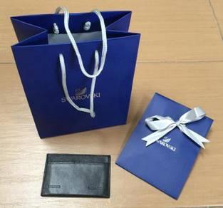 Swarovski card holder brand new with paper bag