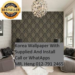 Beautiful In Wall paper with Installation dj2309d