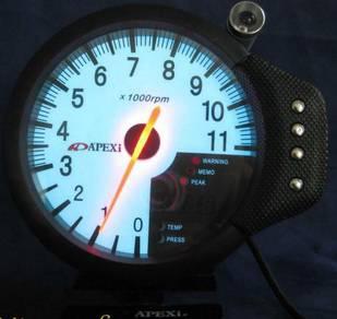 APEXI DECS 5 inch rpm meter white face