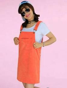 Orange outer dress sleeveless