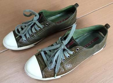 Prada army green sneaker shoes pavilion original