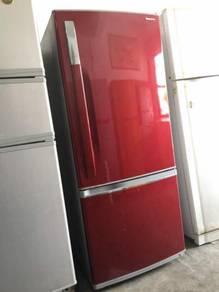 Fridge Red Panasonic Peti Sejuk Refrigerator Ais
