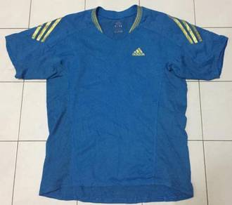 Adidas blue gold lining tshirt limited