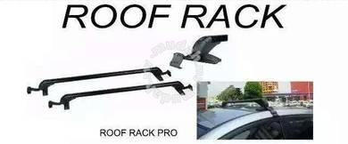 Universal roof rack rail with lock