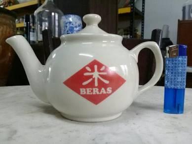 119 Teko cap BERAS not kopitiam teapot