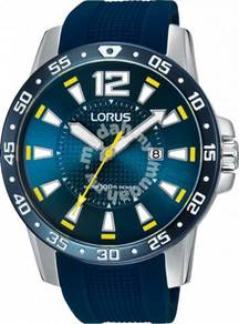 Lorus Mens Sports with Blue Rubber Strap RH935FX9