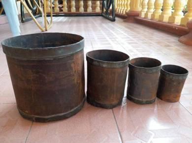 Gantang Cupak Leng Pot Set emas gold kayu rolex