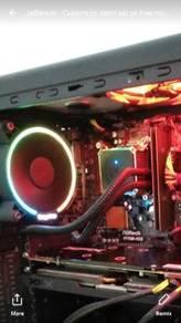Xfx r9390 8gb, g4560,8gb ram, monitor