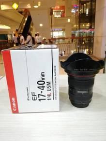 Canon ef 17-40mm f4l usm lens - 95% new