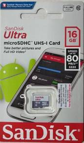 Sandisk 16GB Memory card 80mb/s,class 10