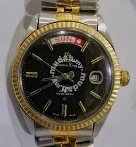 Jam Swiss Titoni Cosmo King 370 14k rim auto Watch