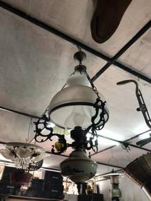 Antique vintage Brass Dutch ceiling hanging lamp