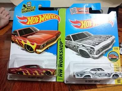 Hotwheels '65 Chevy Impala white only not Tomica