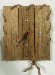 Antique Reproduction Wooden Wall Clock