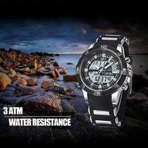 Digital & Analog Silicone Band Watch