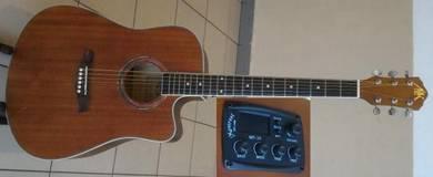 A&K Semi Acoustic Guitar 41 Inch 330E