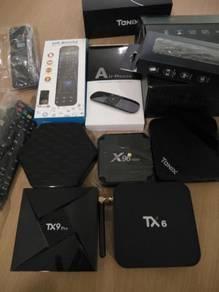 Box iptv modem decoder Tx3 tx9 x96 max 2g/16g tv