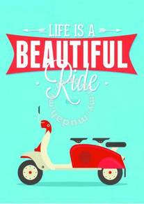 Poster VESPA LIFE IS BEAUTIFUL RIDE