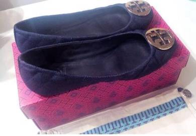 Toryburch shoes shoe leather Tory Burch kasut