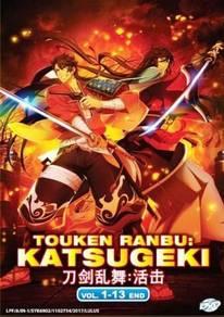 DVD ANIME Touken Ranbu Katsugeki 1-13 End