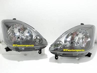 Perodua Viva Crystal Black Head Lamp Light NEW Set