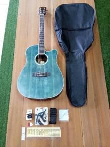 Brandnew 41 inc Indigo Blue Acoustic Guitar Packag