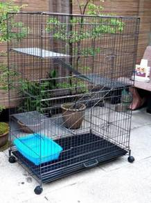 Silver Color 3 Level Cat cage