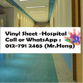Hospital Plain Colour Vinyl Sheet with Install 54w
