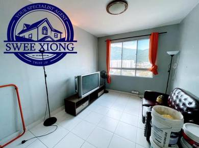 MELODY HOME 700SF 1CP Middle Floor Furnished Unit at FARLIM AYER ITAM