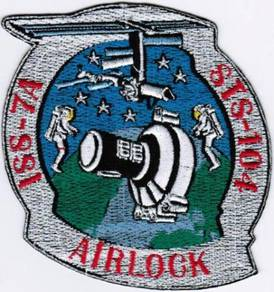 Human Space Flights STS-104 ISS-7A AIRLOCK Patch