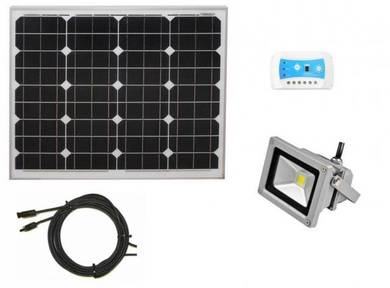 50W Solar Spot Light For Kebun / Guard House