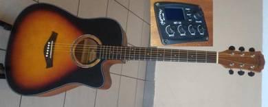 Mentreel Semi Acoustic Guitar 41Inch 180E Sunburst