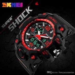 New SKMEI 1155 Men Hybrid Sports Watch Waterproof
