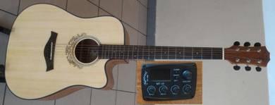 Mentreel Semi Acoustic Guitar 41Inch 180CE
