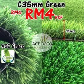 Artificial Grass / Rumput Tiruan C-Shape 35mm