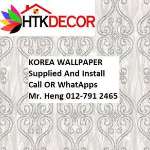 Wall paper Install at Living Space C387W