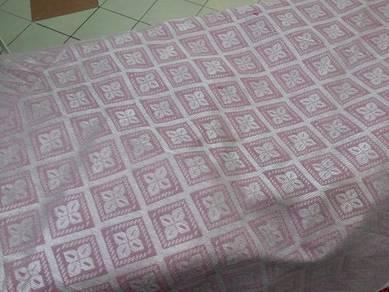 Sampin songket pink belacan sulam silver