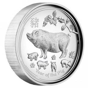 Series II Pig 2019 1oz Silver Proof High Relief