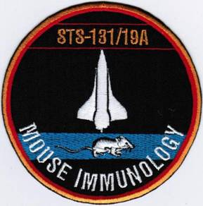 Human Space Flights STS-131 Mouse Discovery Patch