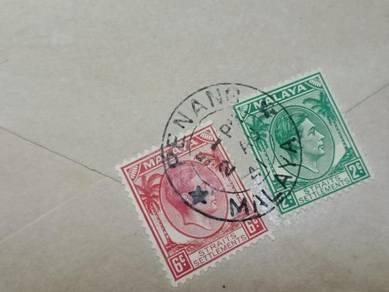 Antik Cover PENANG 1941 No 2961